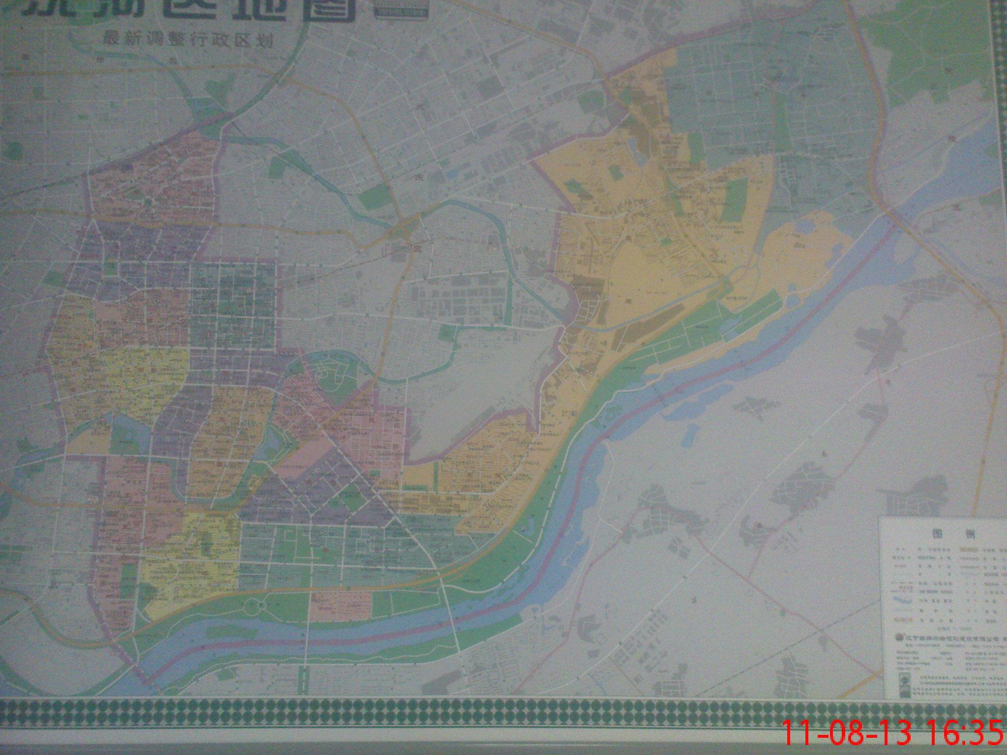 沈阳市各区最新调整行政区划地图(不给力的手机照的,很不清晰,凑合看