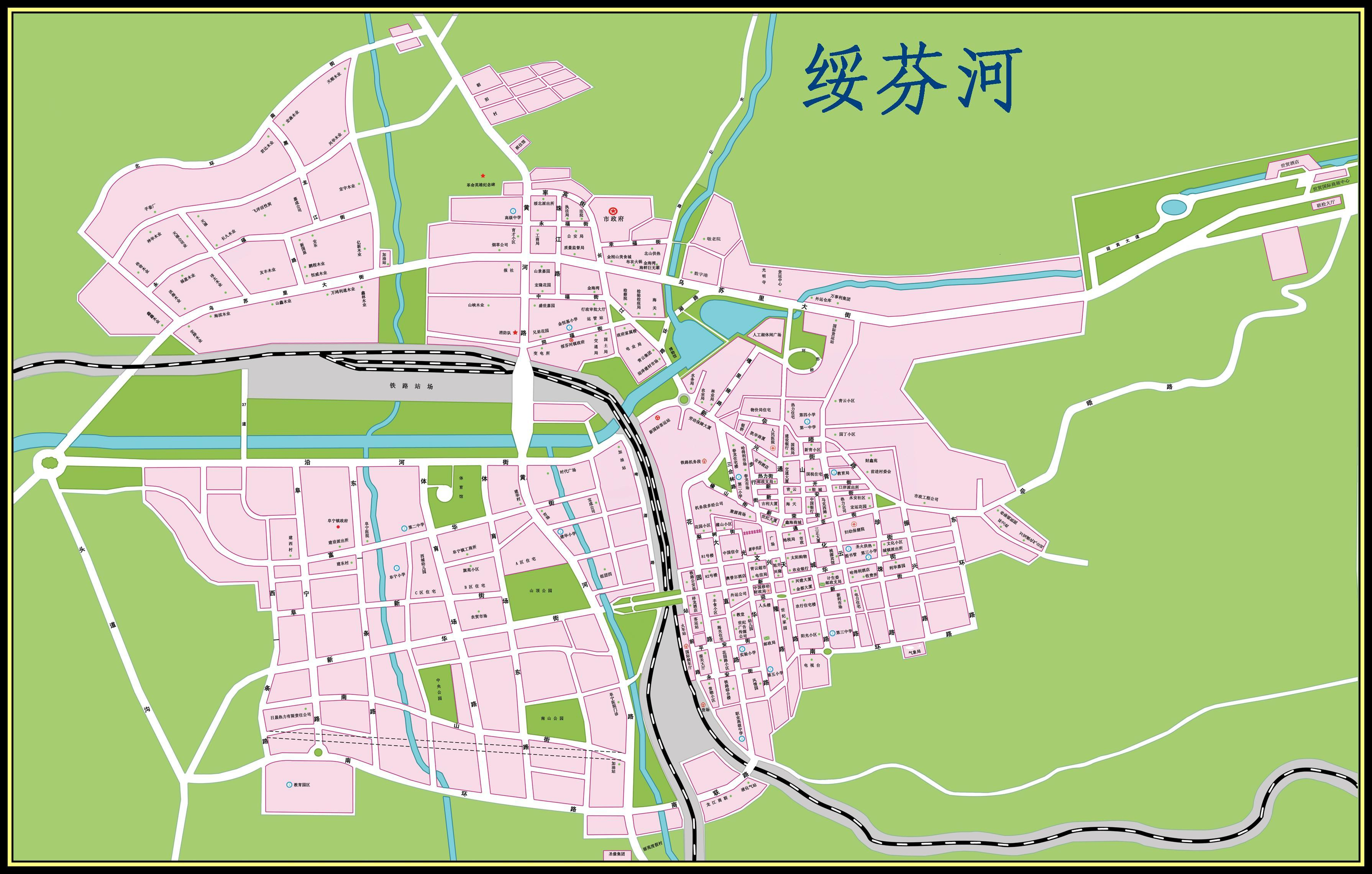 绥芬河城区地图