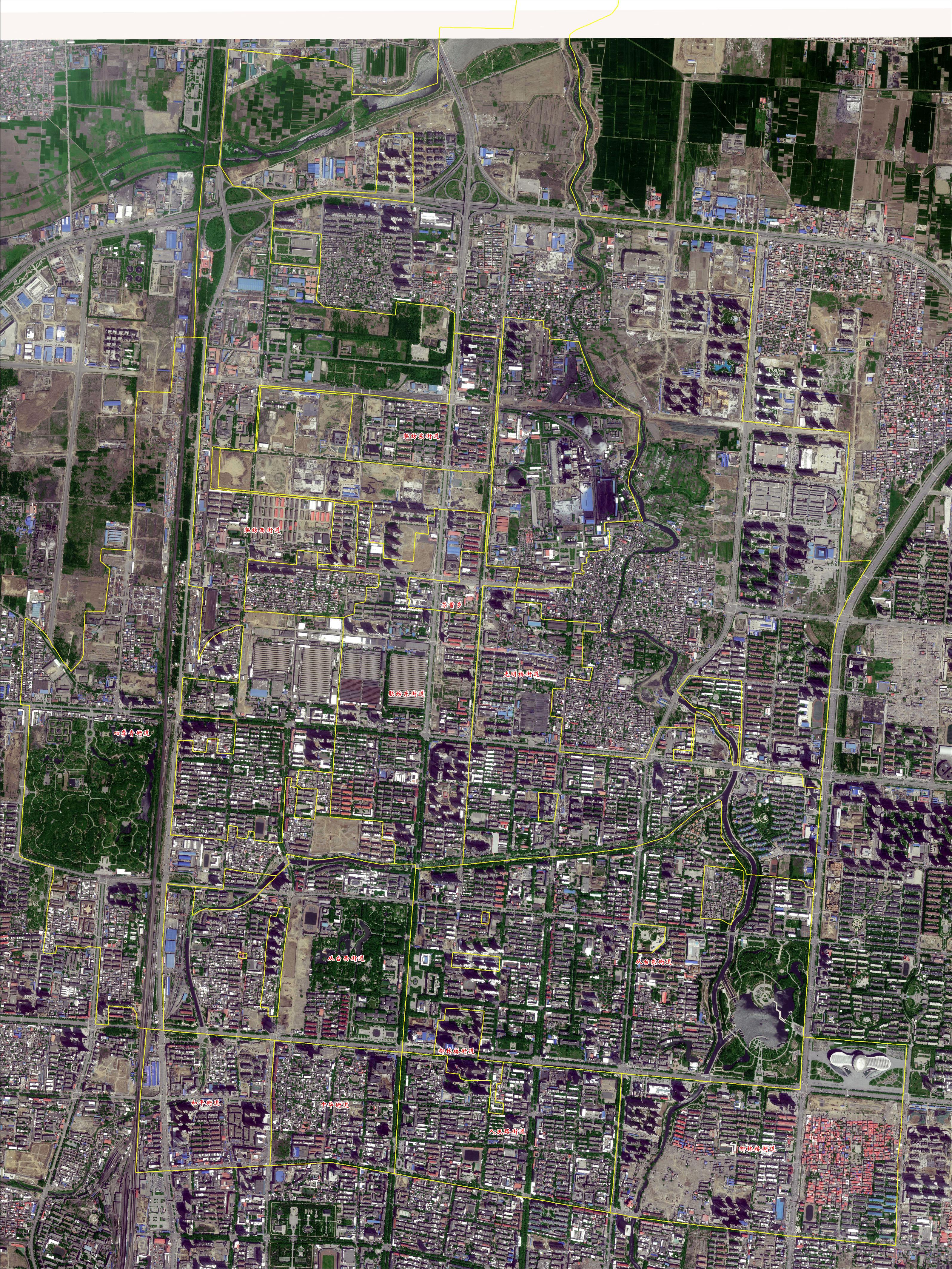 邯郸市丛台区分乡镇地图(kmz)