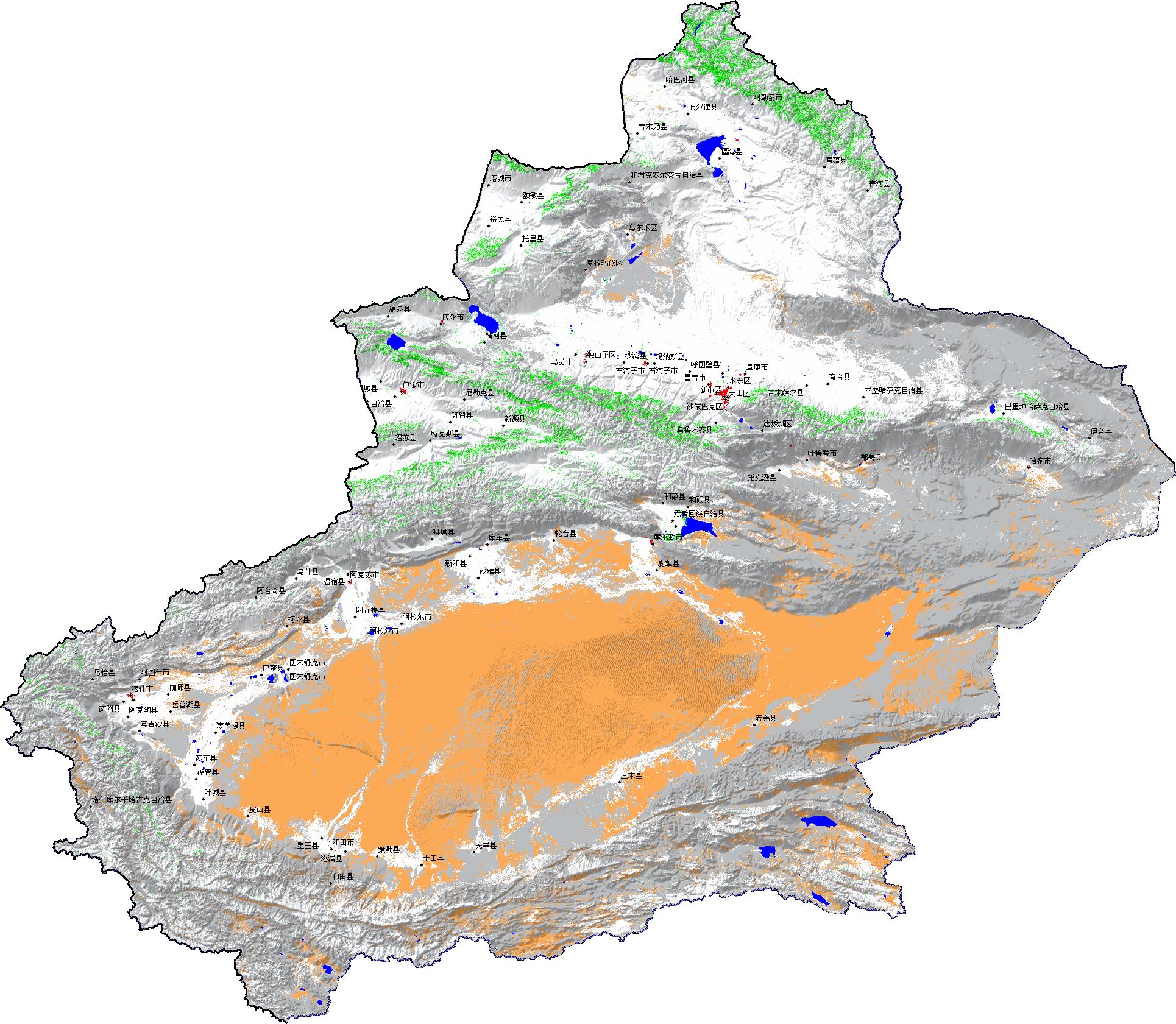 一些新疆的地图