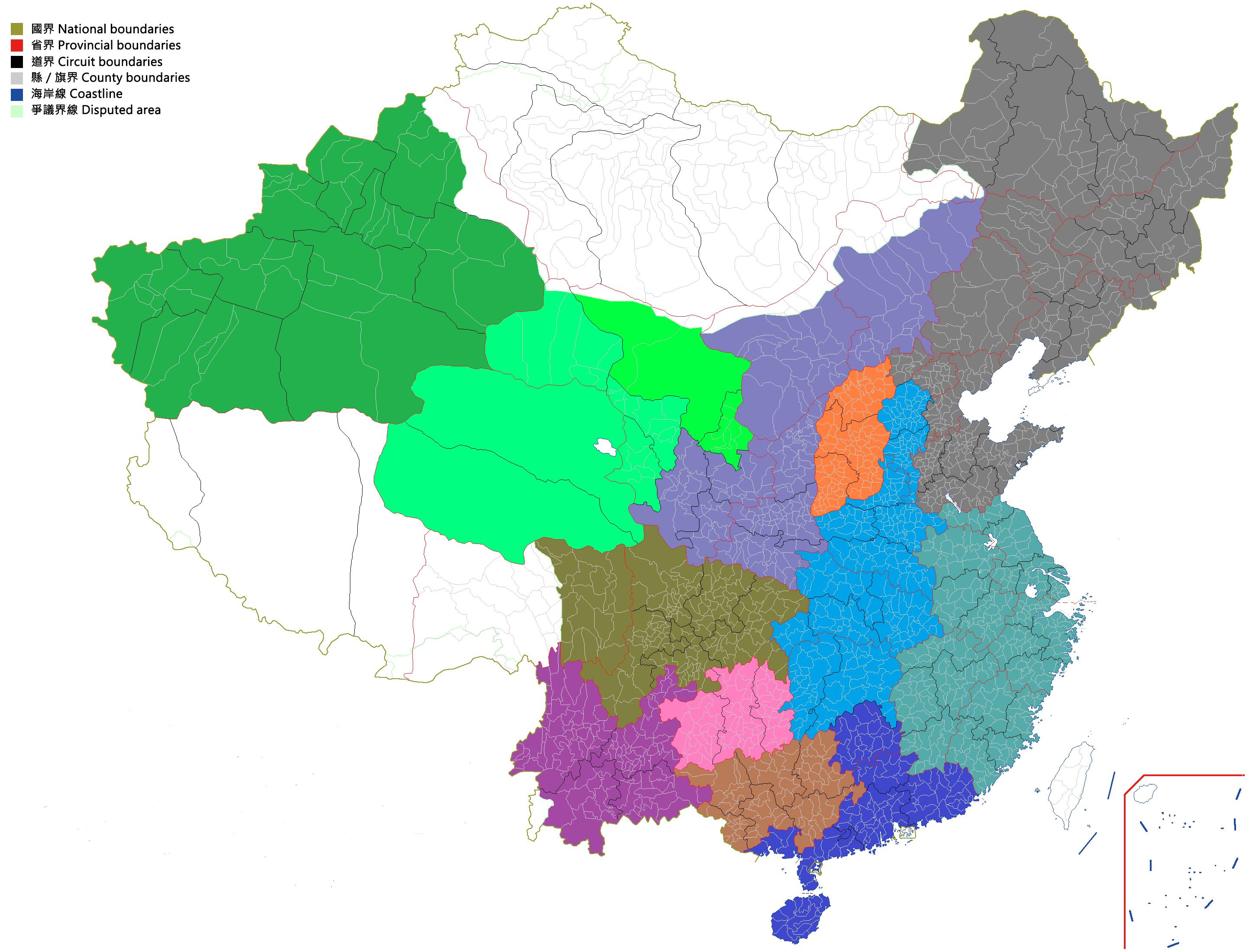 中华民国全国县市地图(完成图请见#38)图片