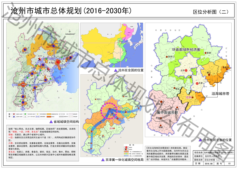 沧州市城市总体规划(2016—2030年) 沧,青,黄,海改区.