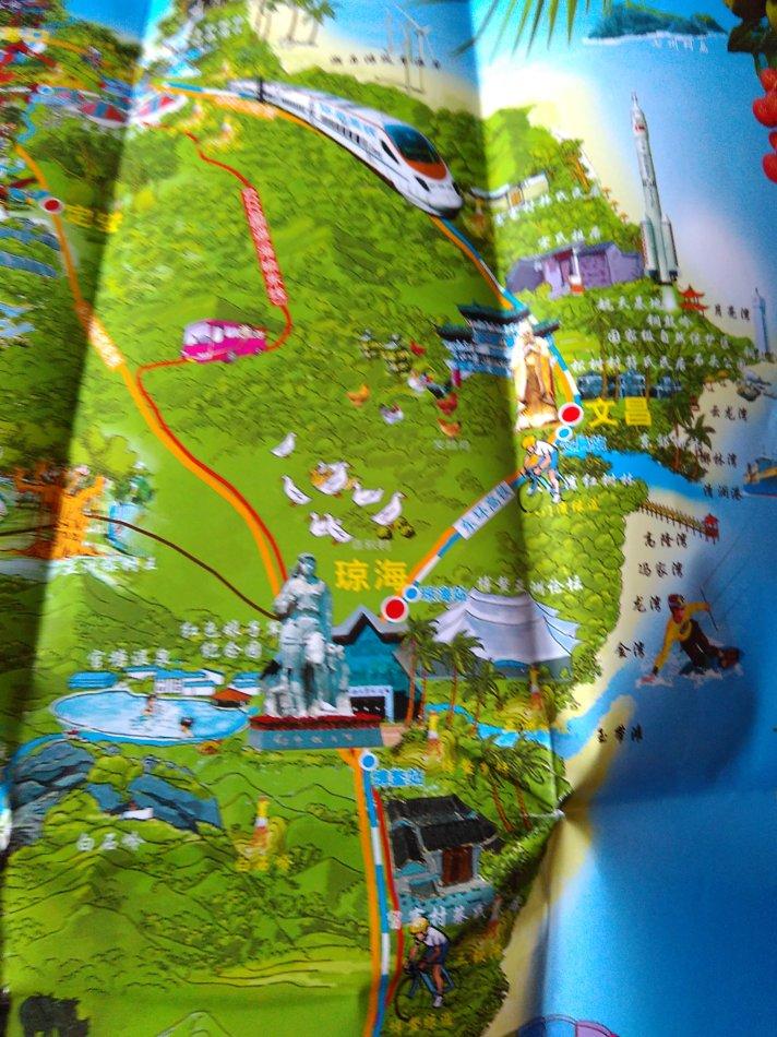 2014年版《海南旅游手绘地图》:图中的美丽风光