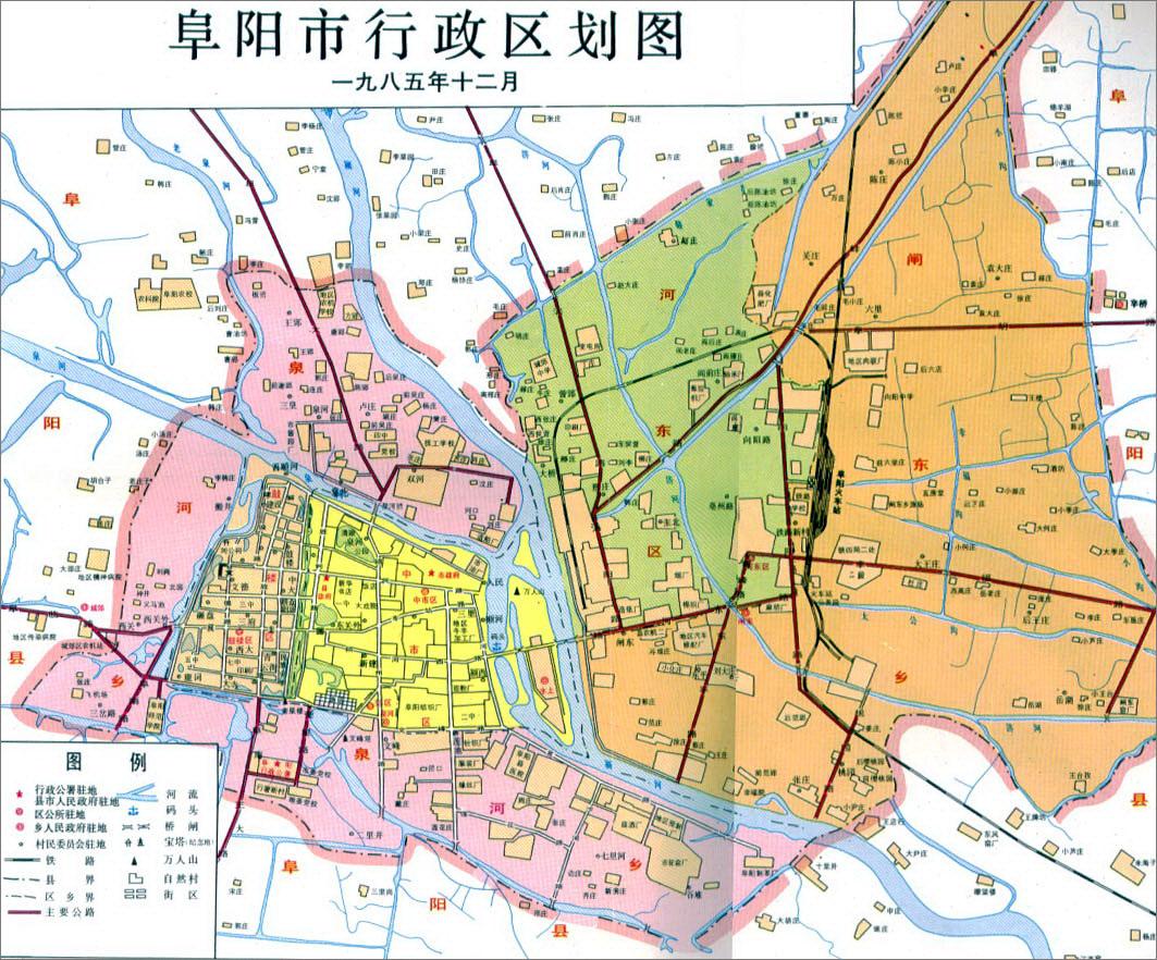 1985年阜阳市地图